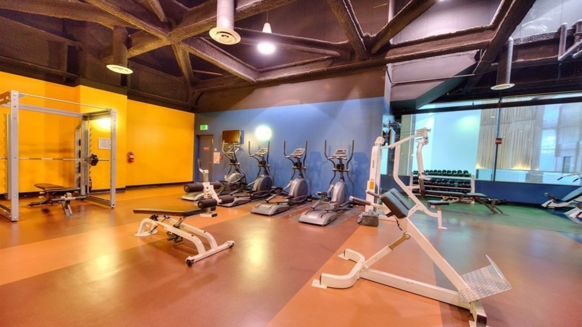 Gym at 1100 Wilshire Apartment