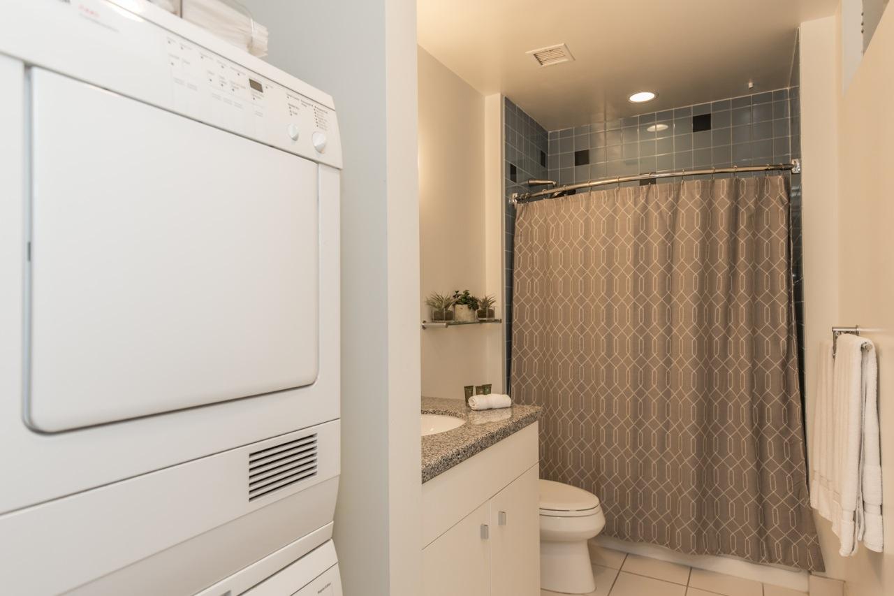 Bathroom at 1100 Wilshire Apartment