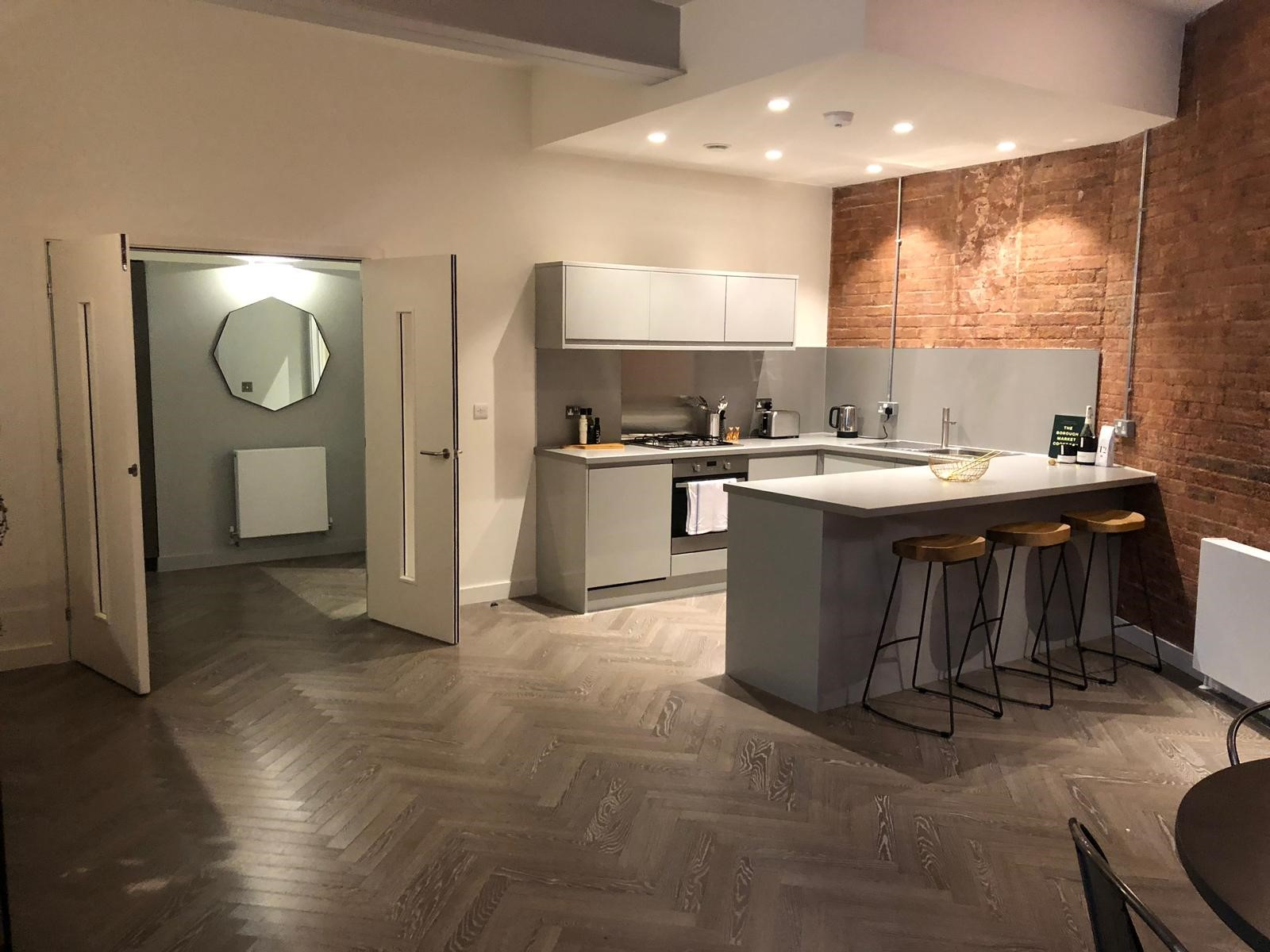 Kitchen at Shoreditch Apartments