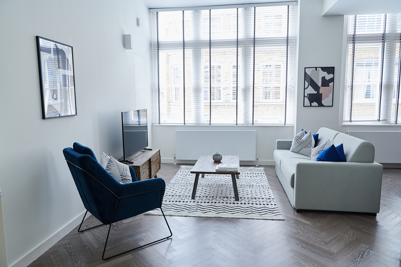 Bright living space at The Residence at Shoreditch Apartments