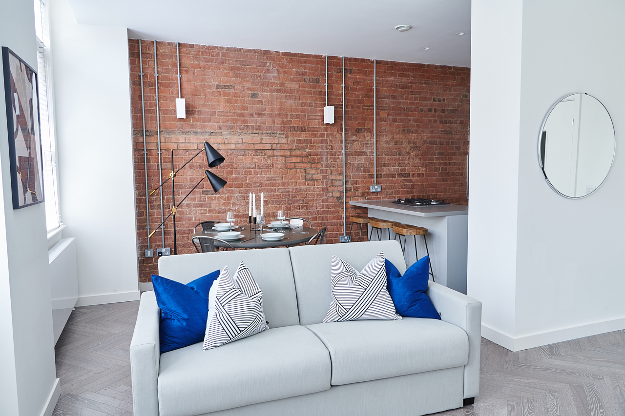 Exposed brick at The Residence at Shoreditch Apartments