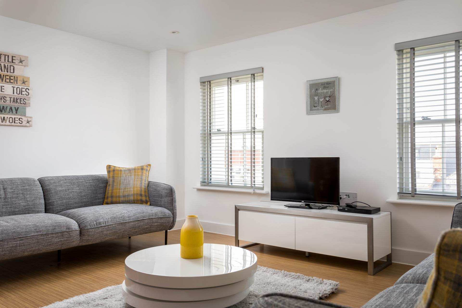 Living area at Prince Regent Mews Apartment