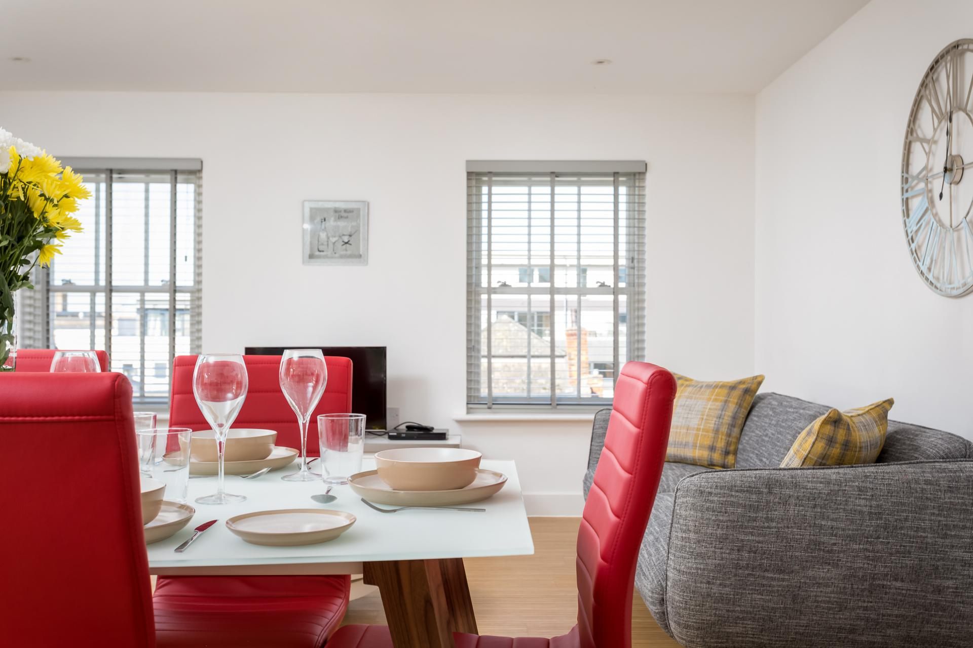 Dining area at Prince Regent Mews Apartment