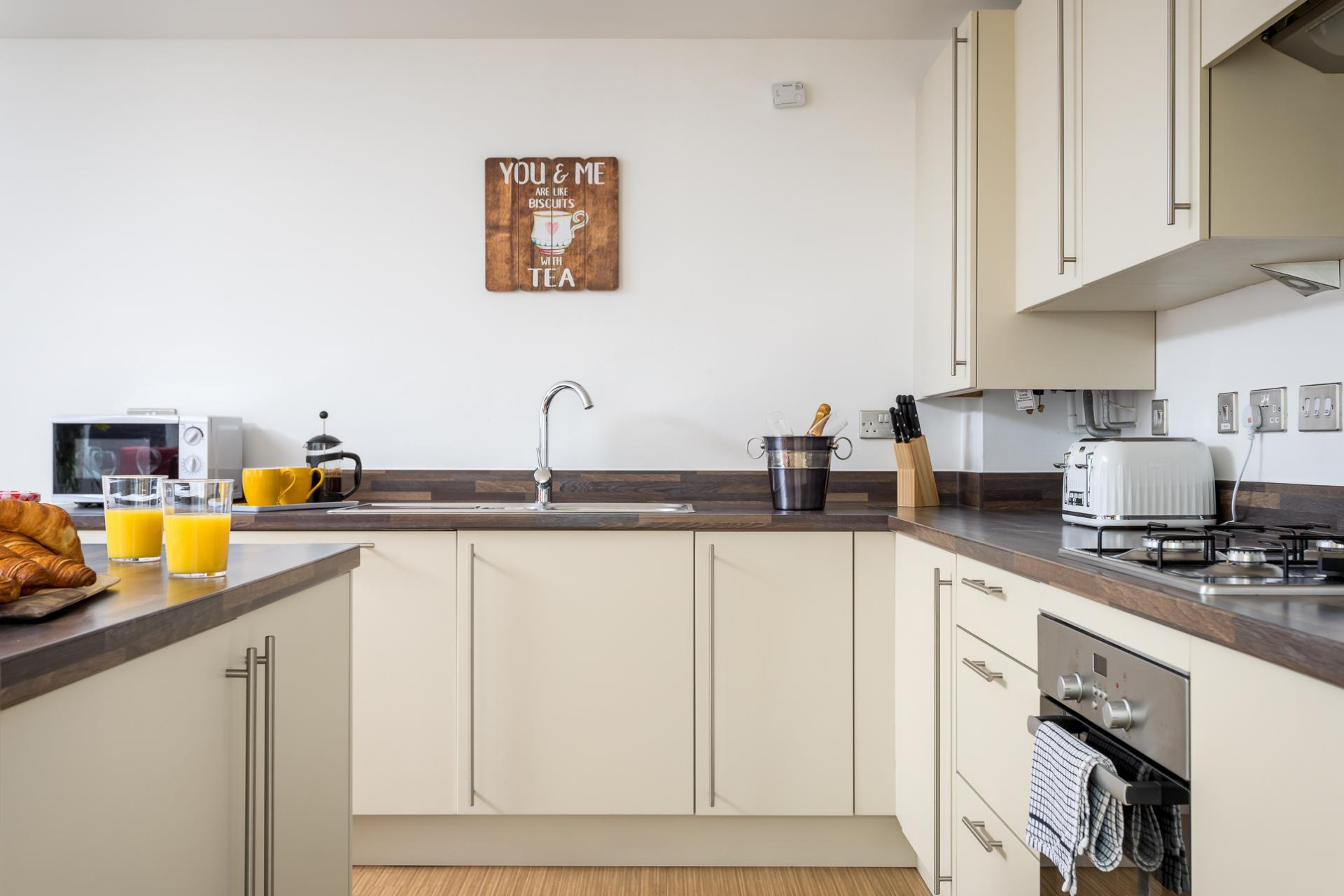 Kitchen at Prince Regent Mews Apartment
