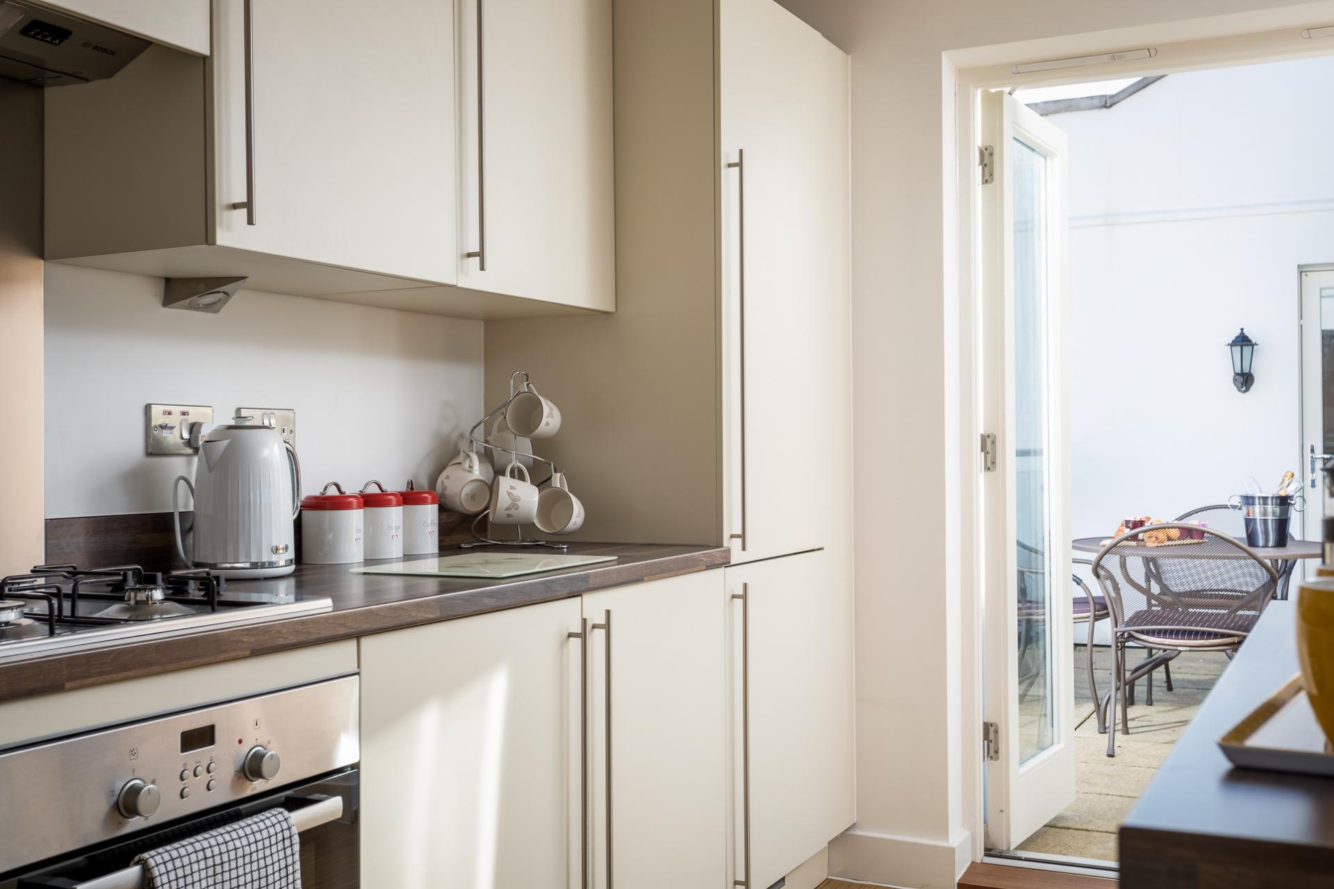 Modern kitchen at Prince Regent Mews Apartment