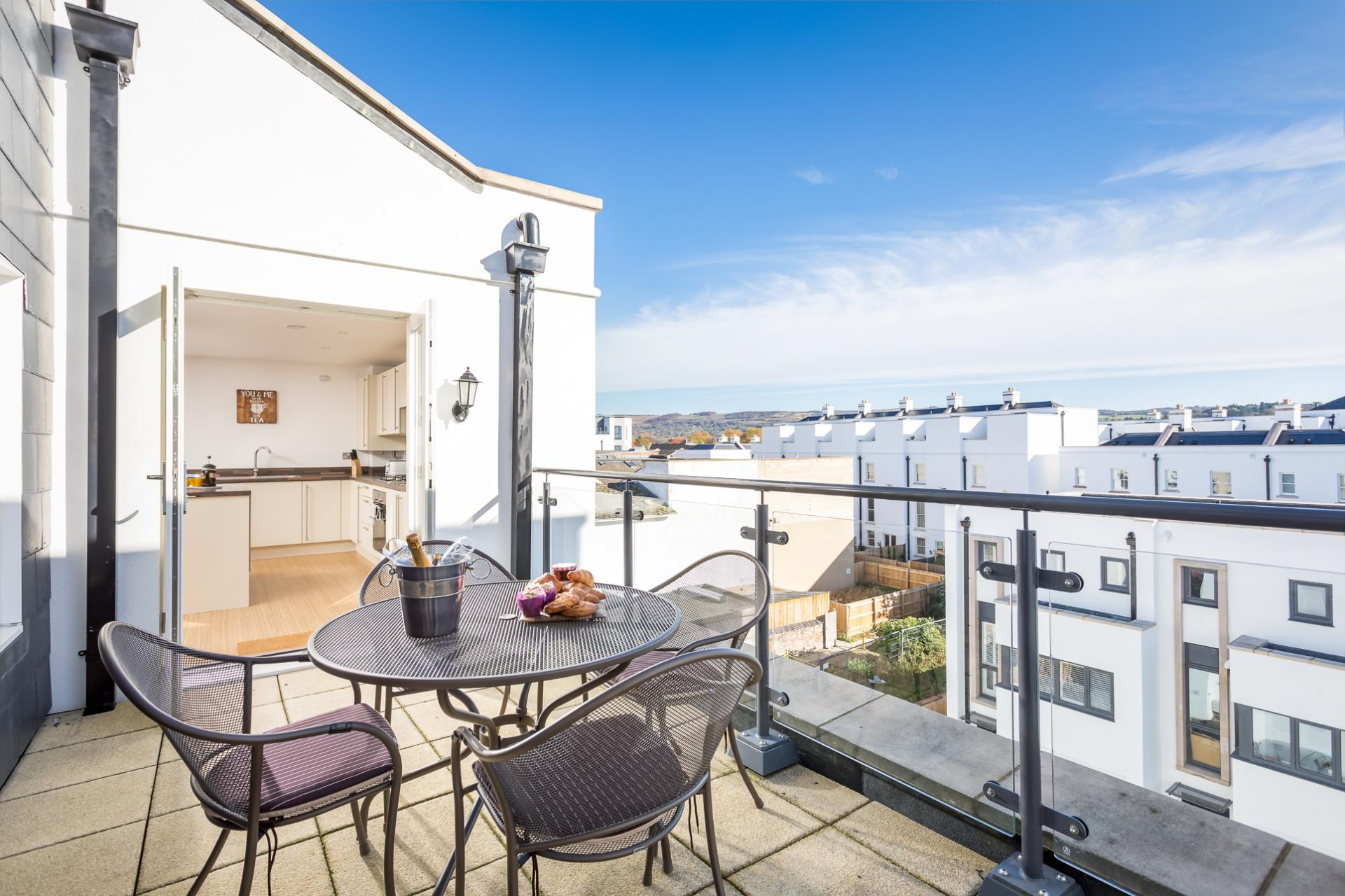 Roof terrace at Prince Regent Mews Apartment