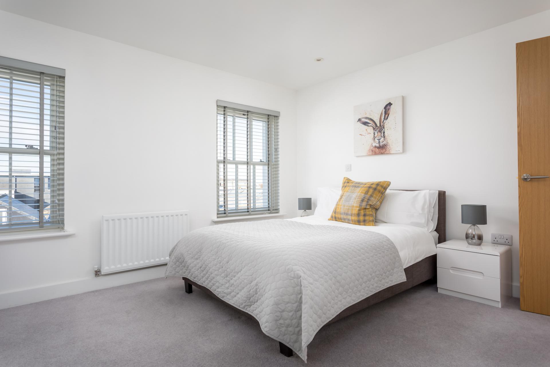 Master bedroom at Prince Regent Mews Apartment