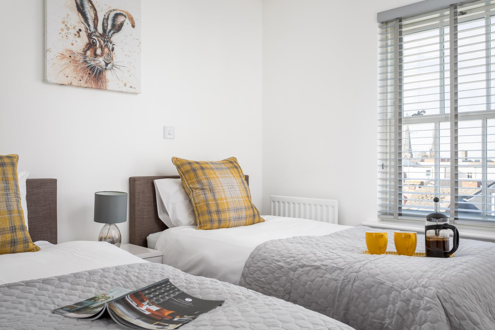 Twin bedroom at Prince Regent Mews Apartment
