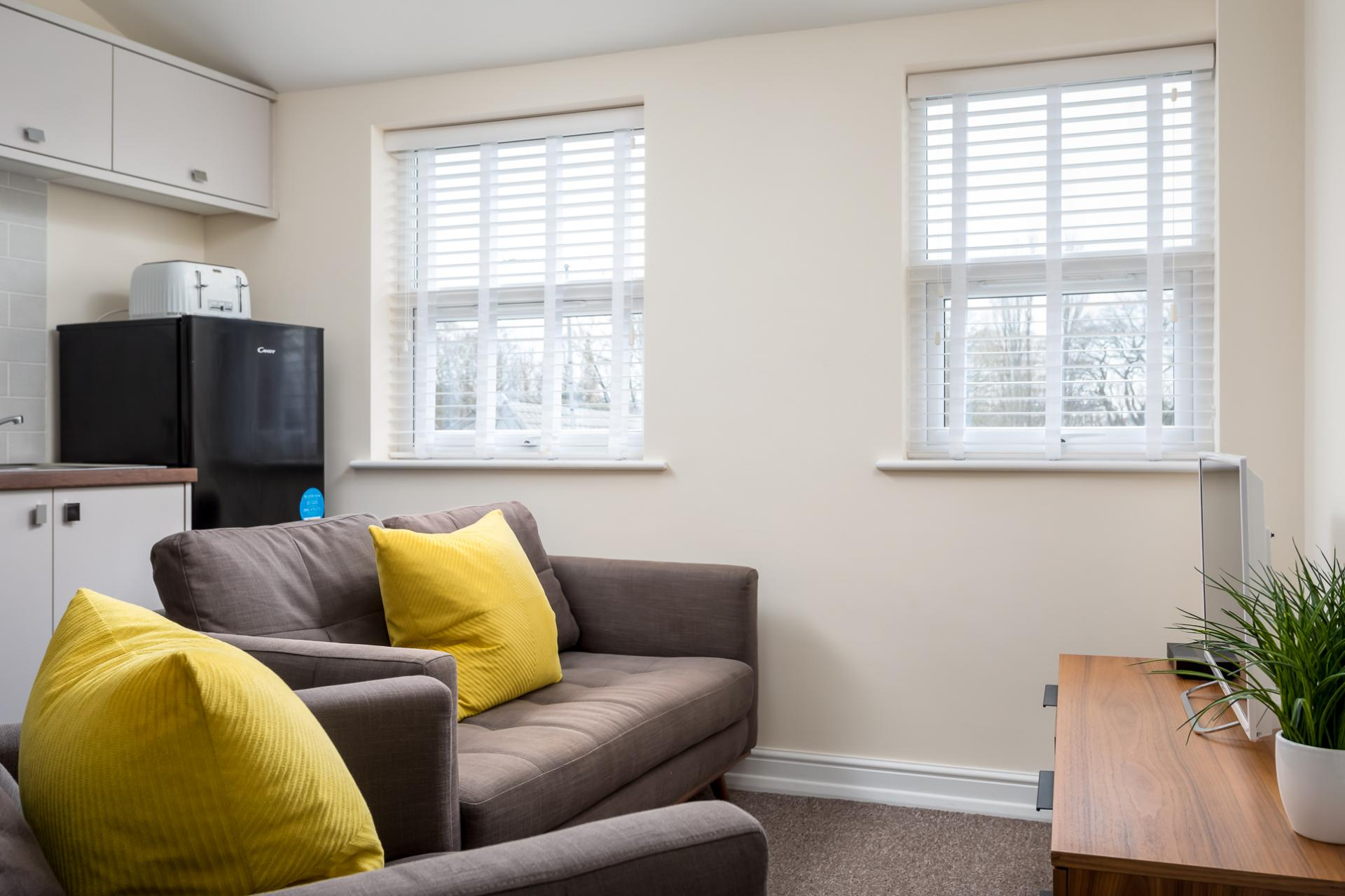 Living area at High Street Serviced Apartment