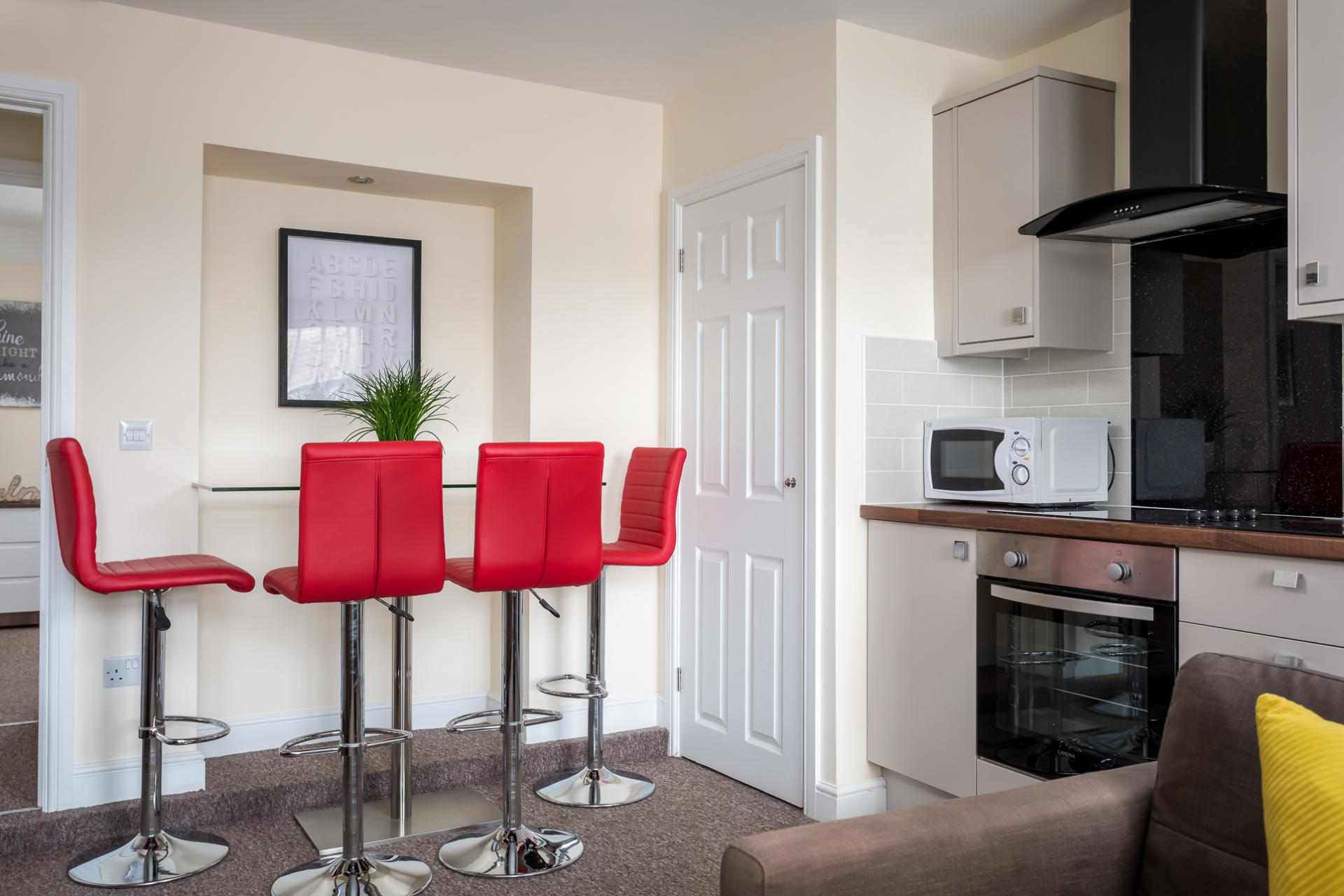 Dining area at High Street Serviced Apartment