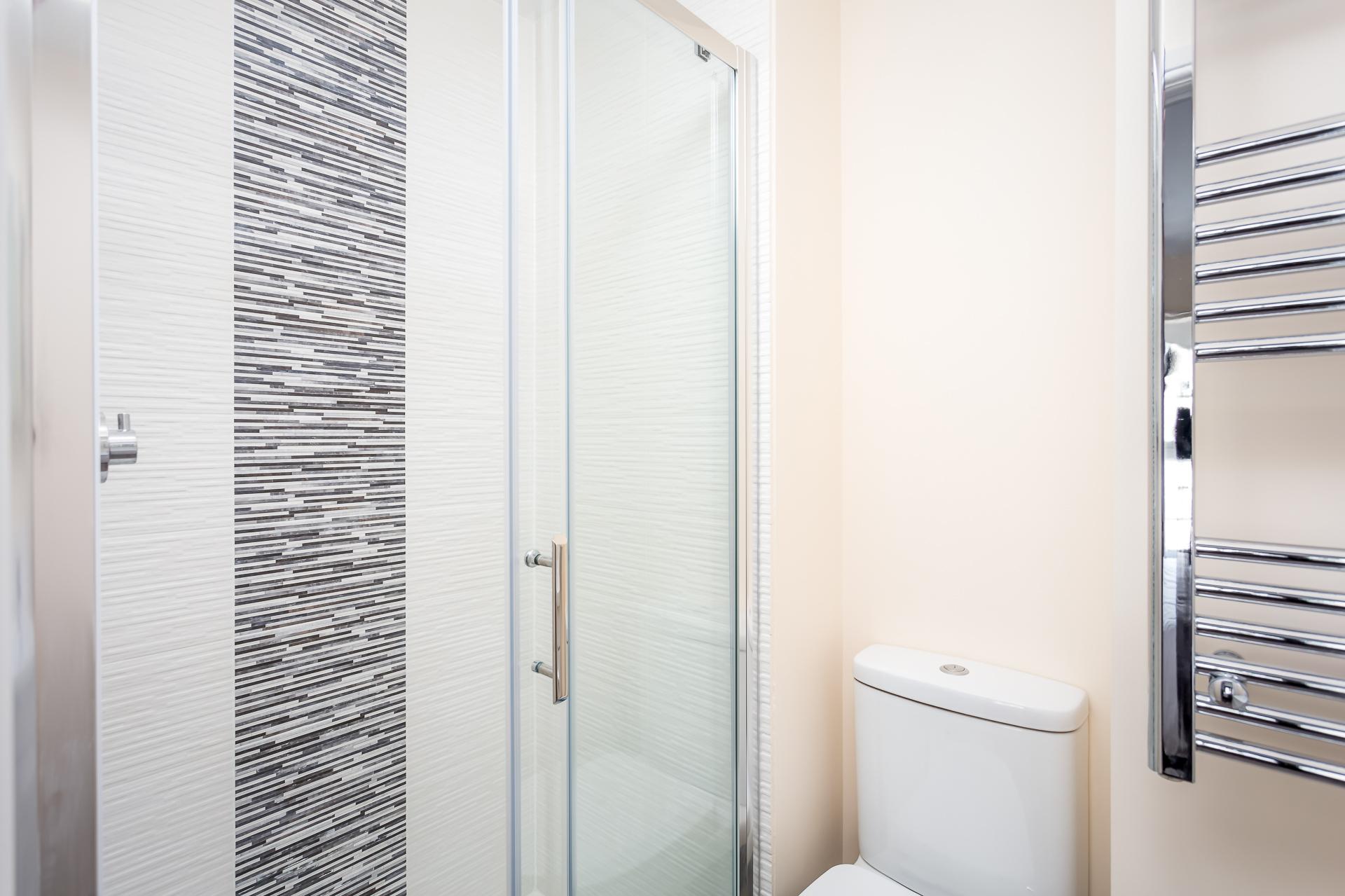 Shower at High Street Serviced Apartment