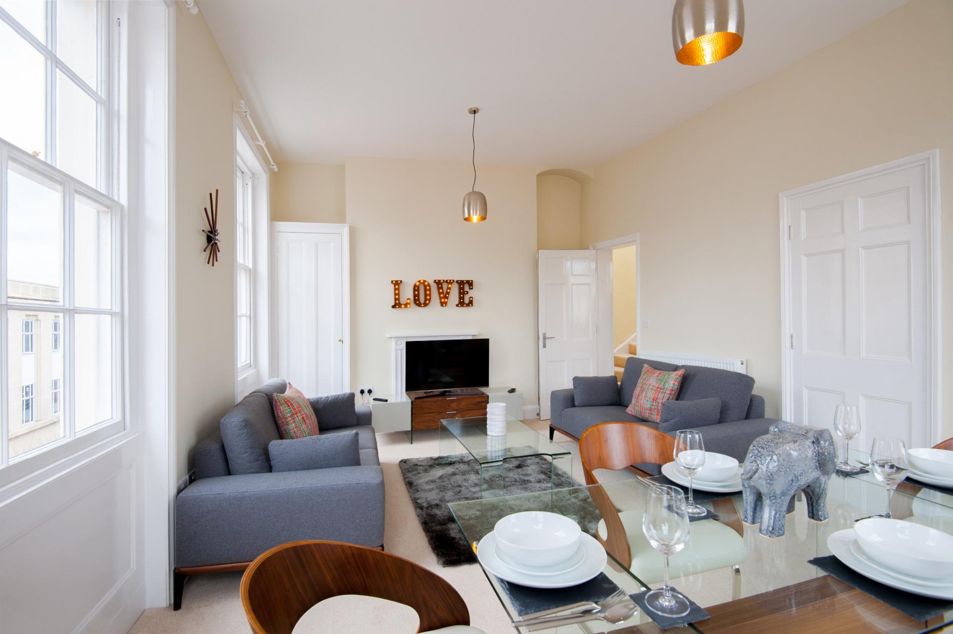 Living area at High Street Duplex Apartment