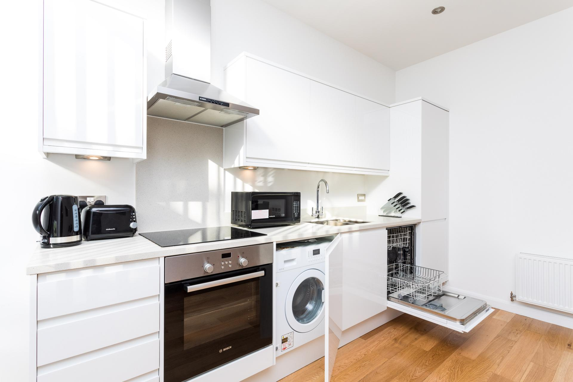 Kitchen at Emerald House Apartments