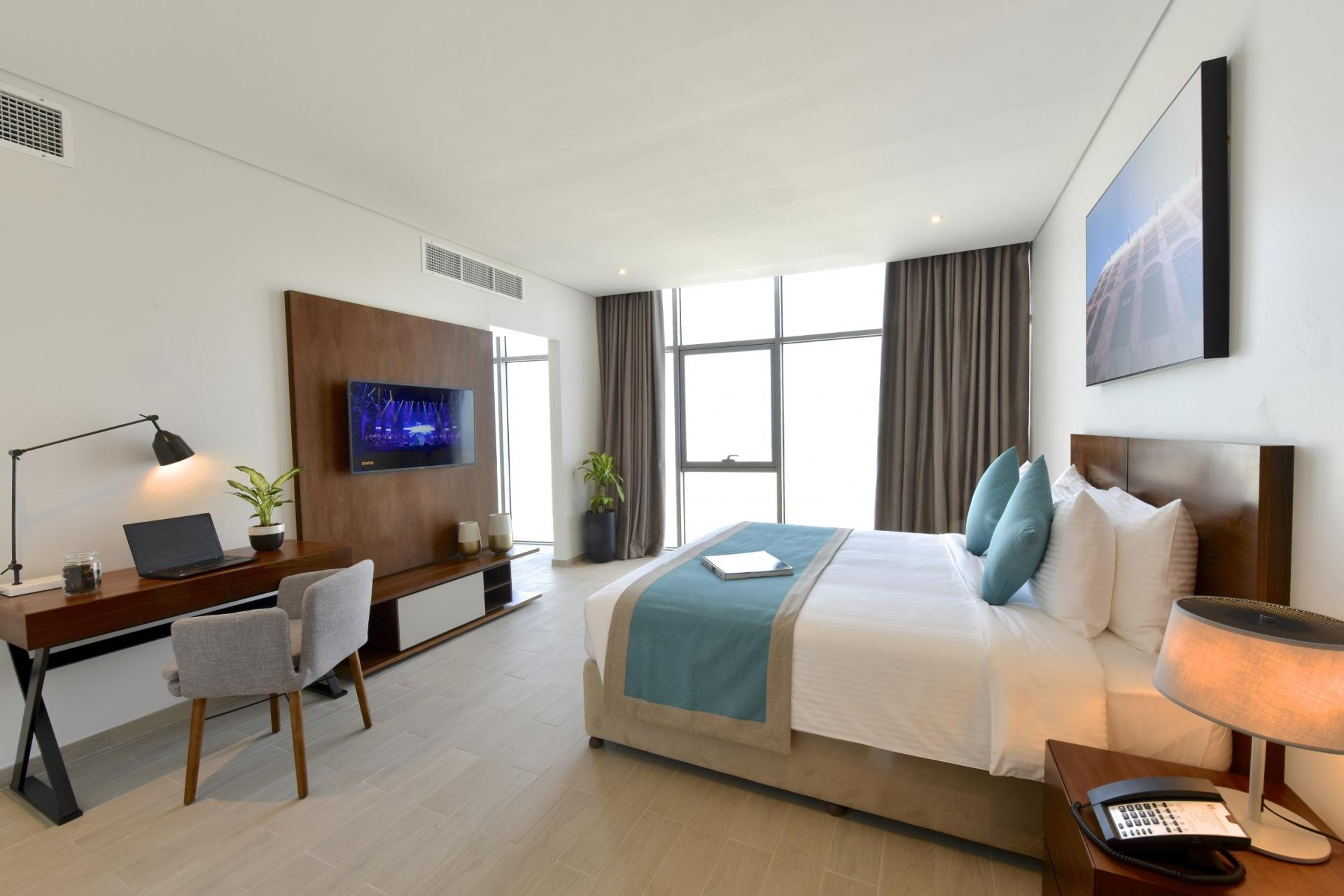 Spacious bedroom at Swiss-Belresidences Juffair