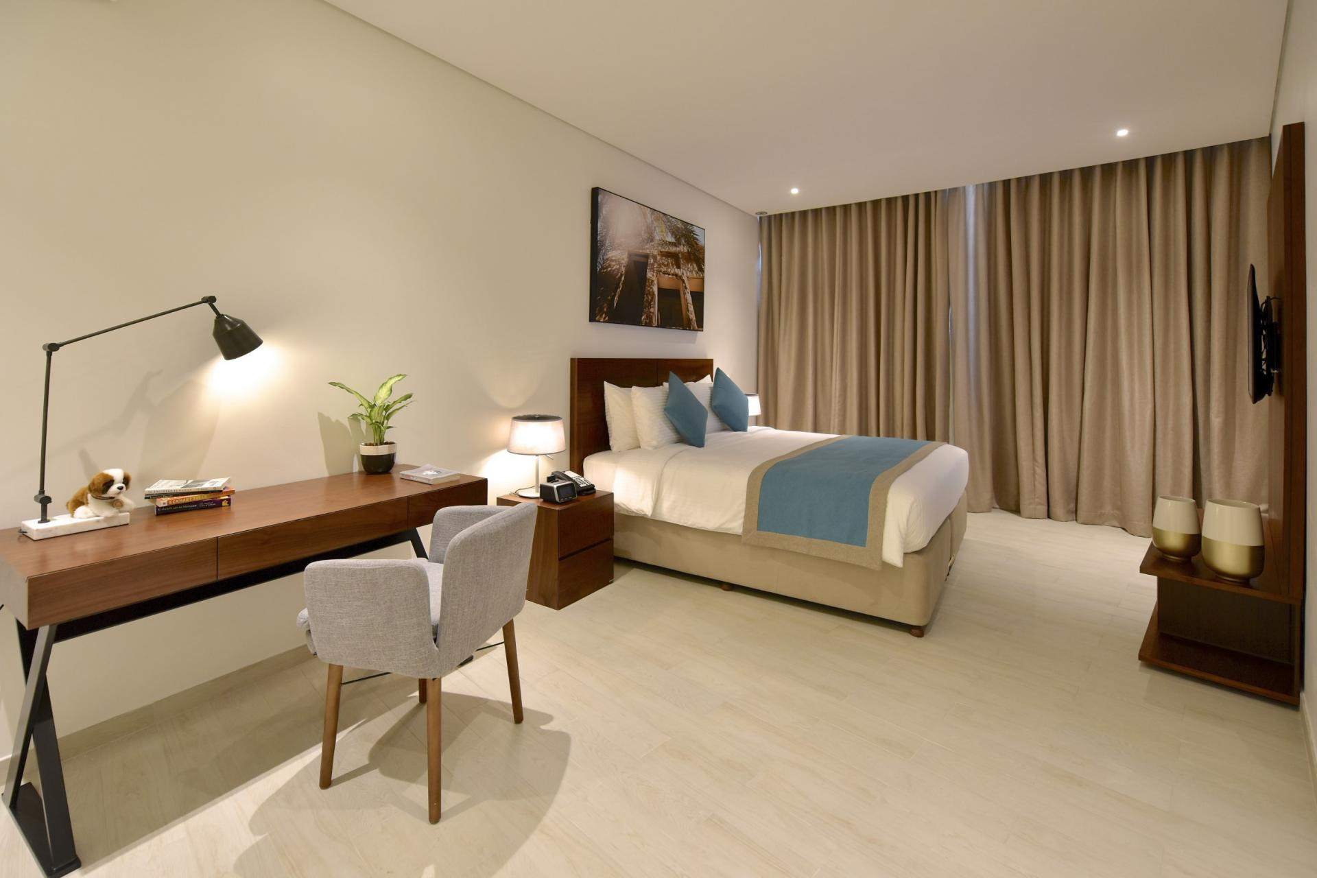 Modern bedroom at Swiss-Belresidences Juffair