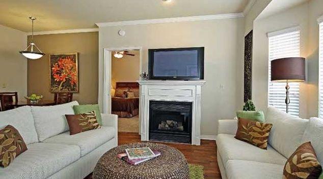 Living room at Renaissance Uptown Apartment