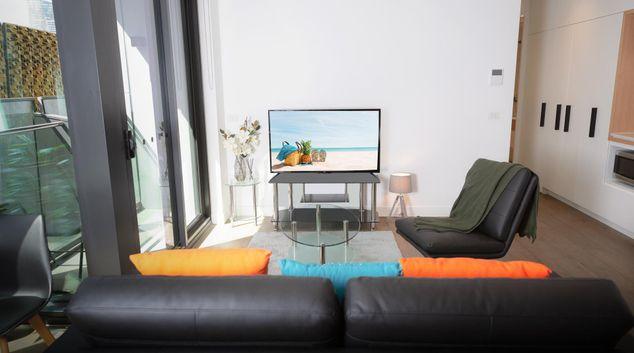 Living room at Doepel Way Apartments