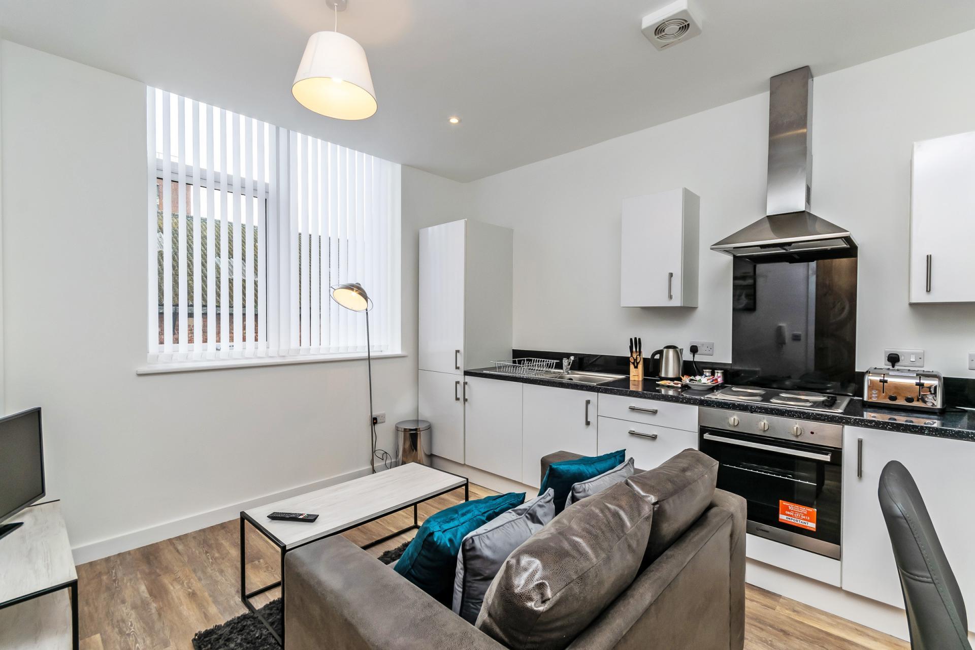Spacious kitchen at City Suites Apartments