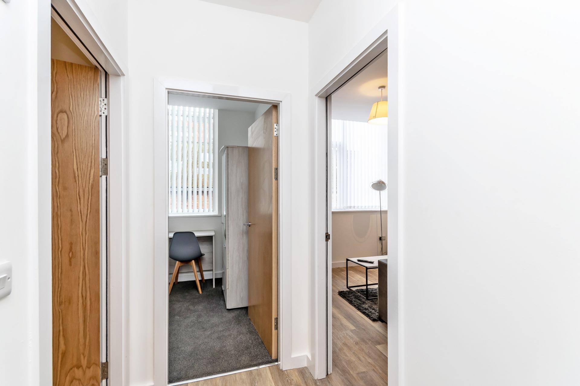 Hallway at City Suites Apartments