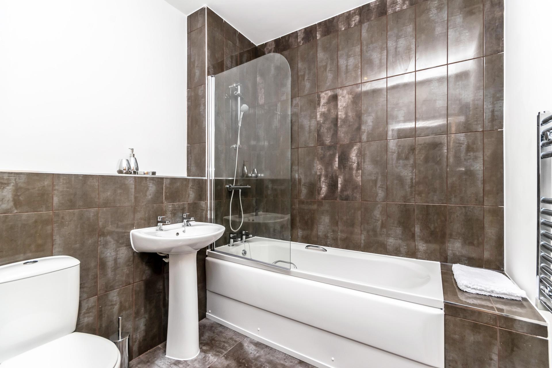 Bathroom at City Suites Apartments