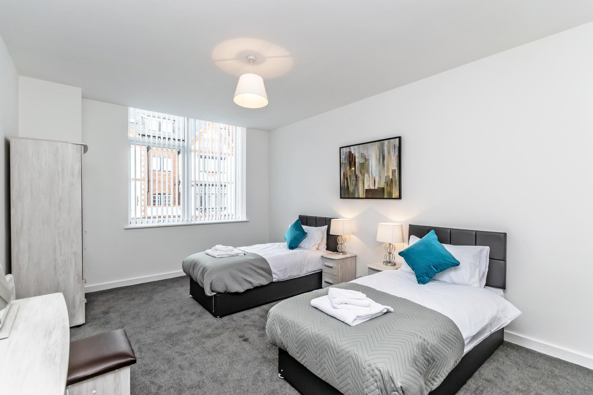 Twin rooms at City Suites Apartments