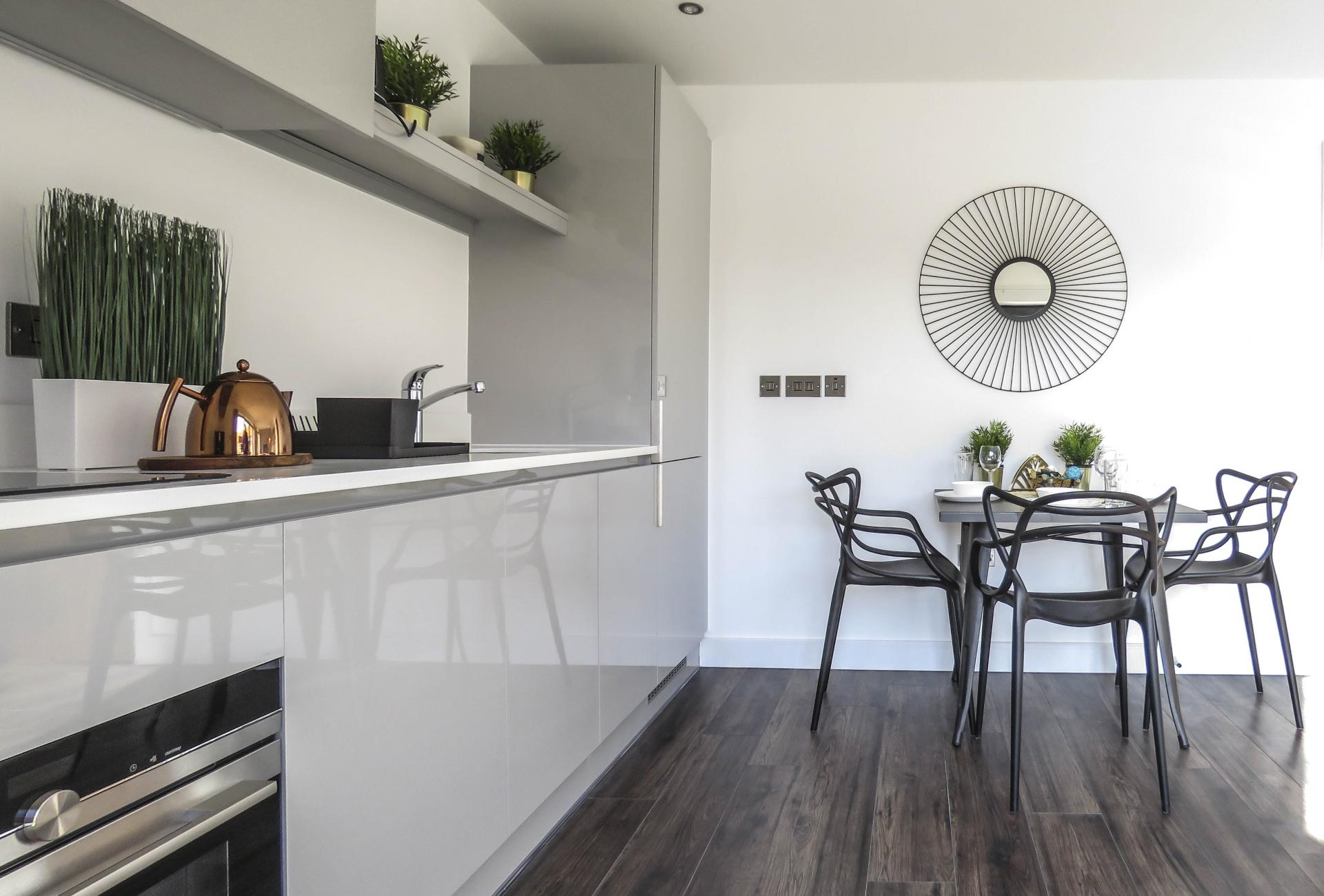 Dining area at Kettleworks Serviced Apartments