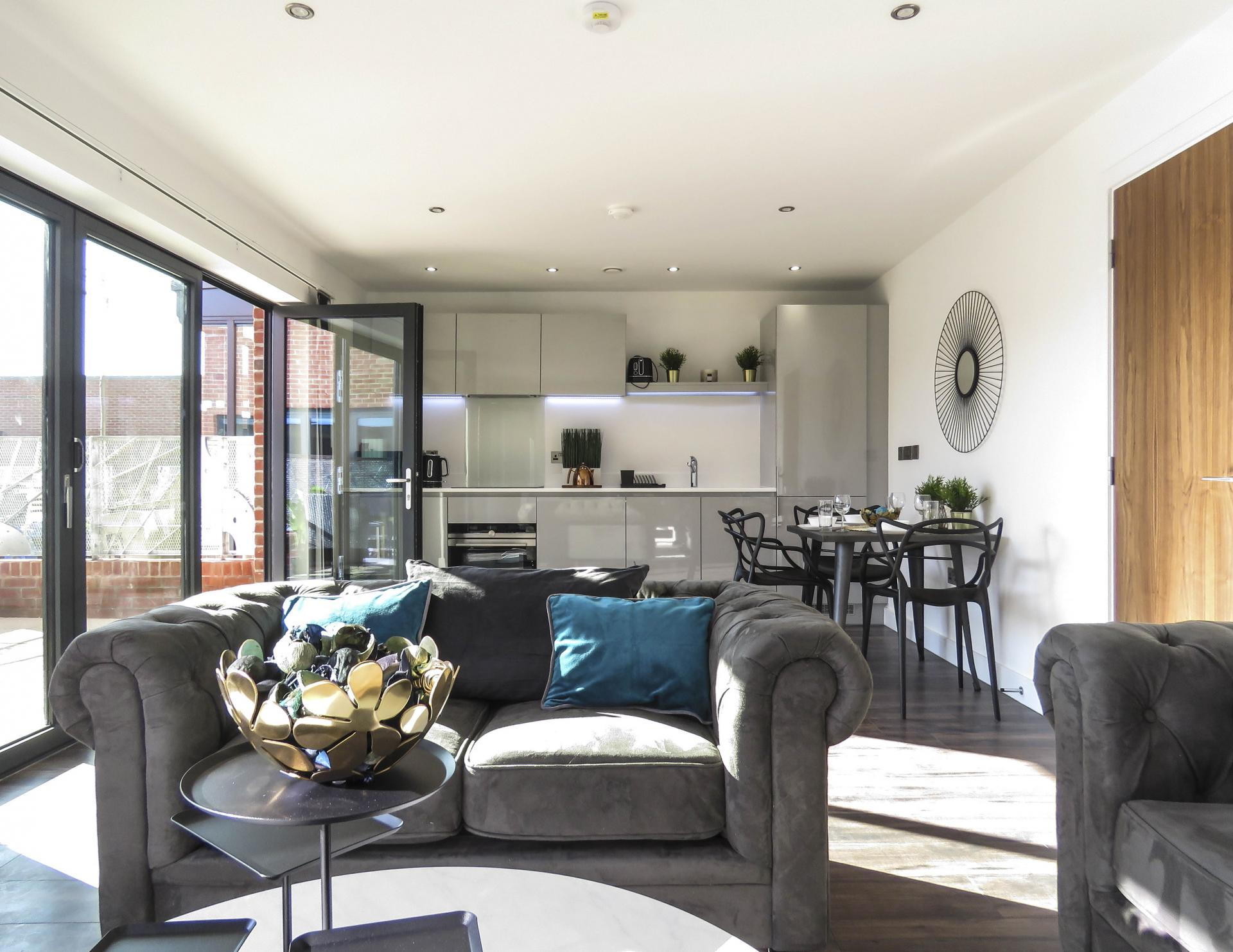 Open plan at Kettleworks Serviced Apartments