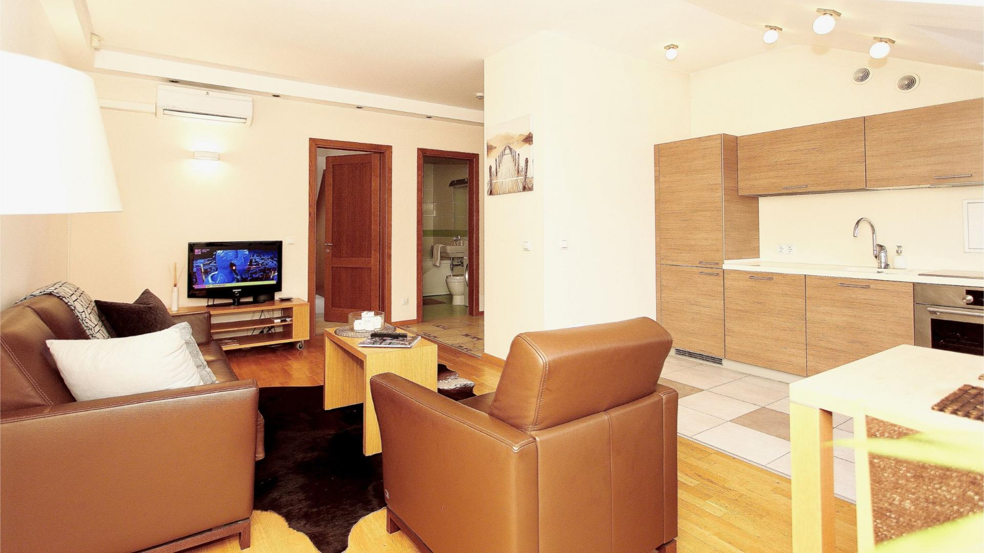 Living area at Stikliu Town Hall Apartment