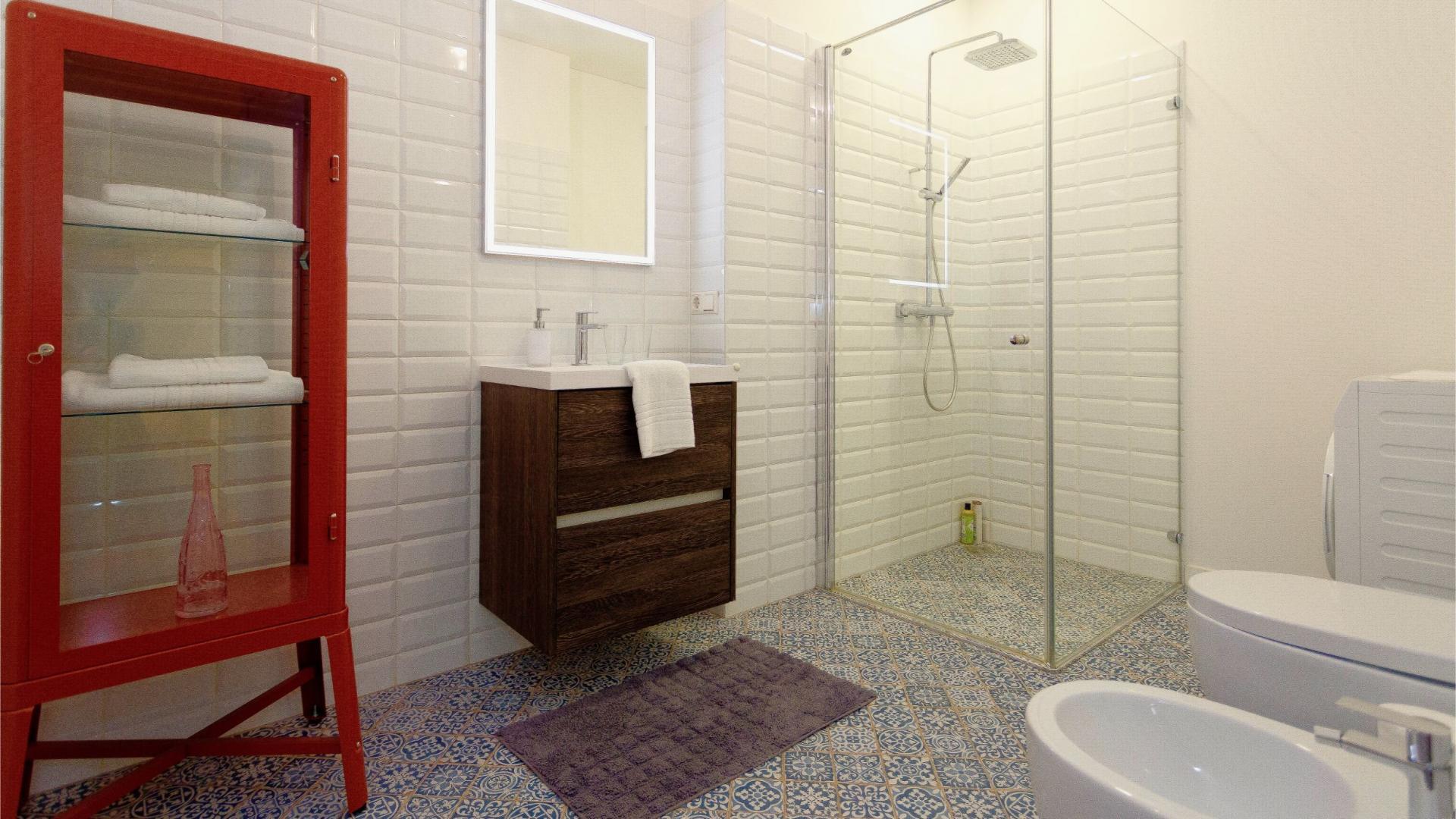 Shower at Siauliu Town Hall Apartment