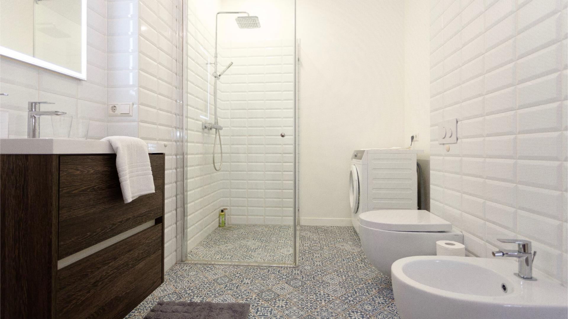 Bathroom at Siauliu Town Hall Apartment