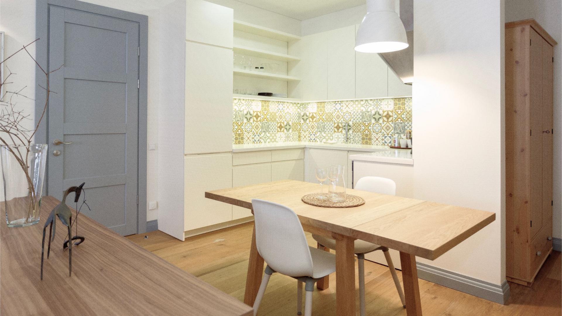 Kitchen at Siauliu Town Hall Apartment