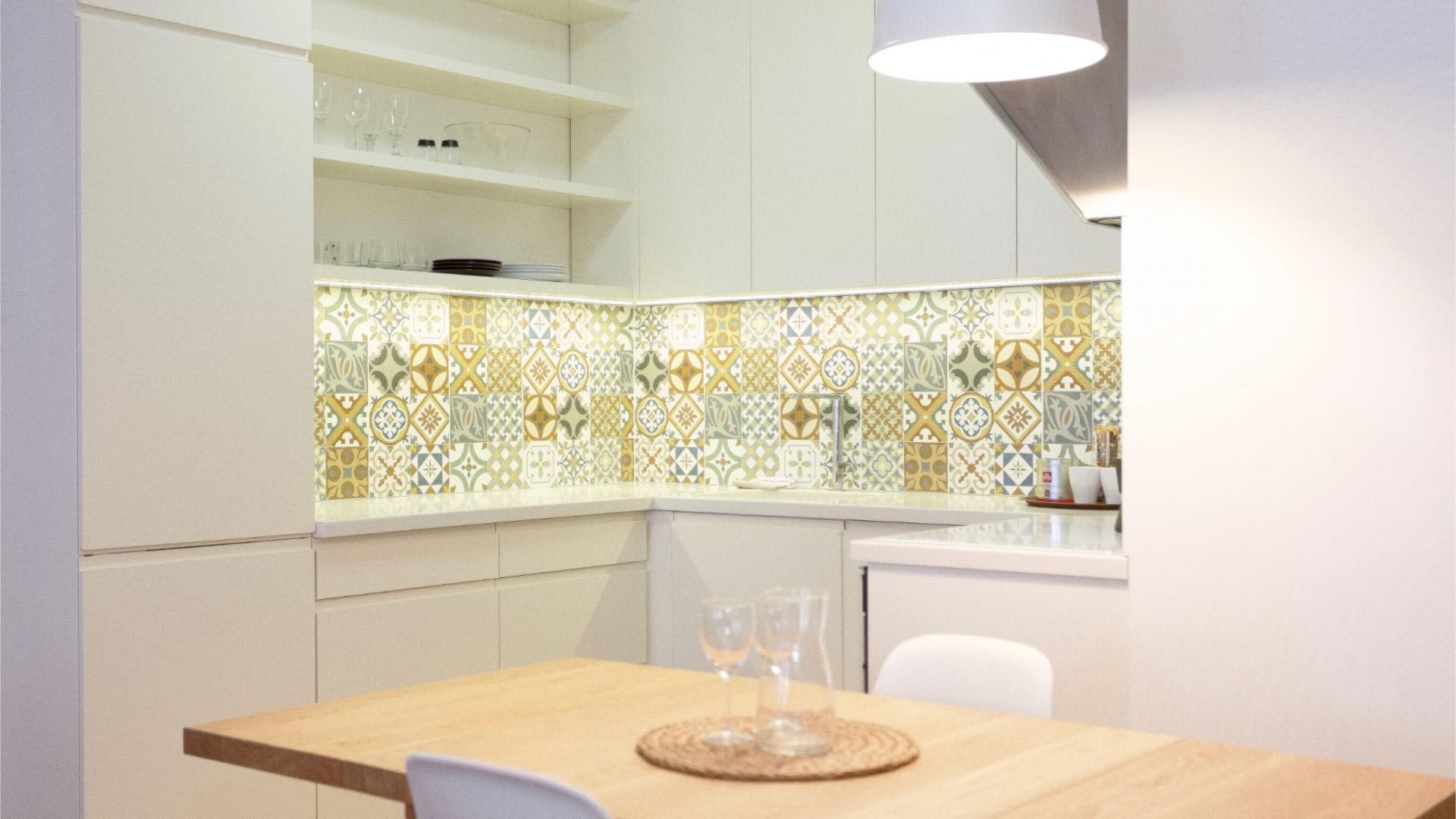 Kitchen facilities at Siauliu Town Hall Apartment