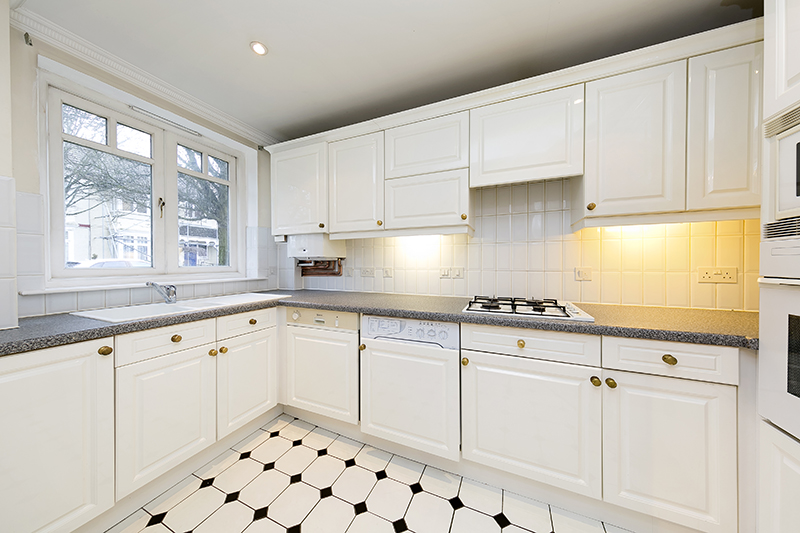 Kitchen at Kean House Serviced Apartment