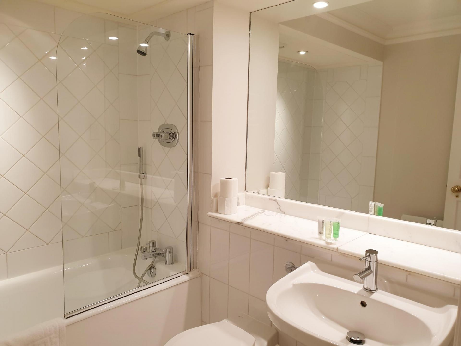 Shower at Kean House Serviced Apartment