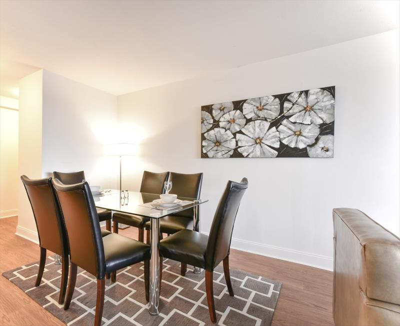 Dining area at 10 Emerson Place Apartments