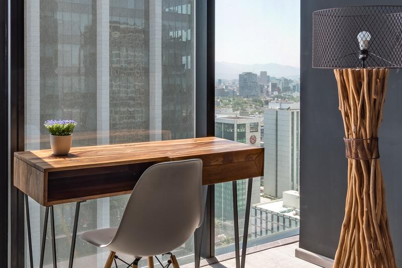 Desk at Magenta Apartment Reforma