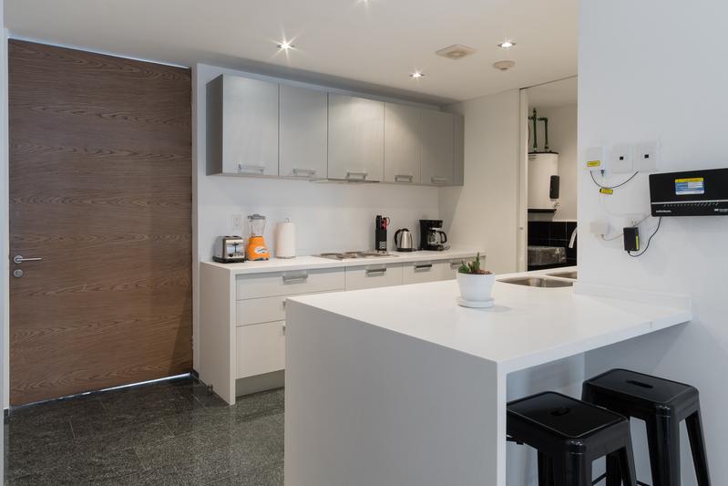 Modern kitchen at Magenta Apartment Reforma