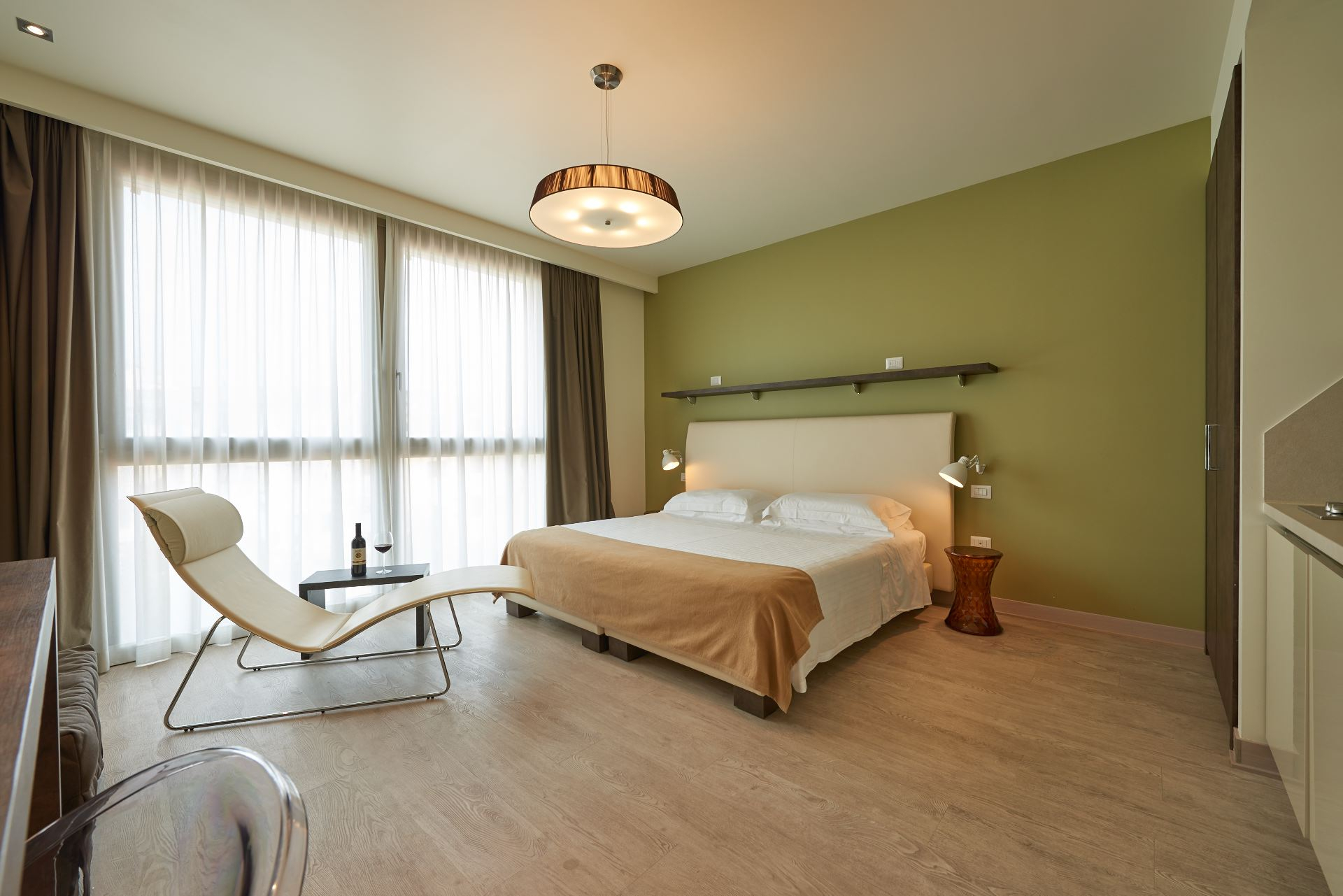 Spacious bedroom at Forte16 View & Spa Apartments