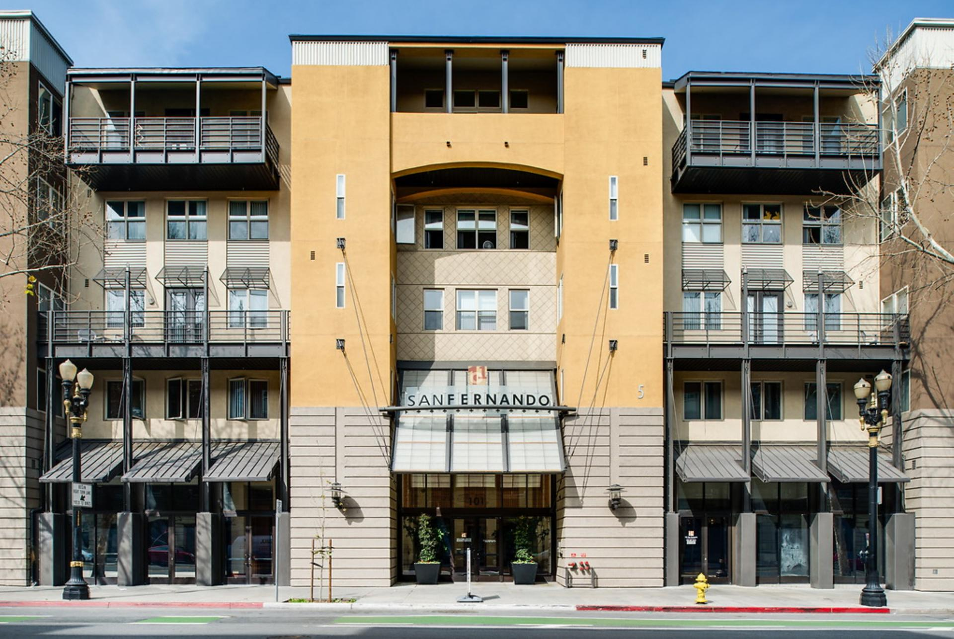 Exterior of San Fernando Apartments, Centre, San Jose