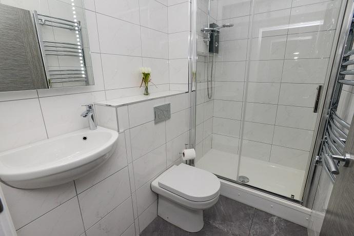 Bathroom at Arena Serviced Apartments
