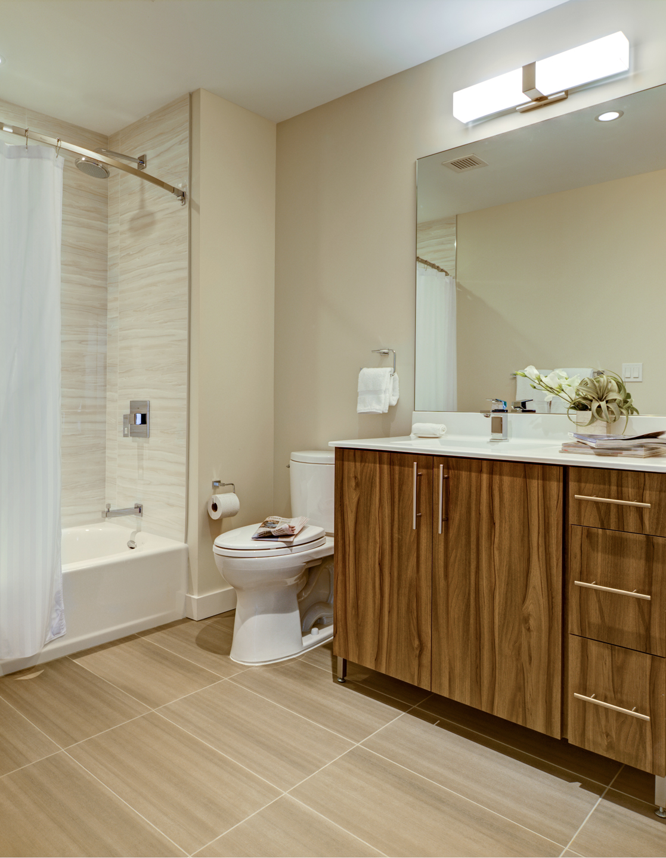 Bathroom at The Benjamin Serviced Apartments