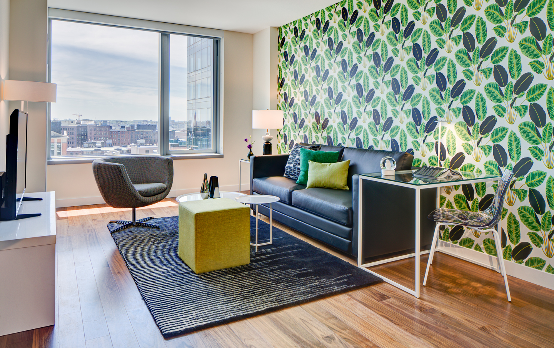 Living room at The Benjamin Serviced Apartments