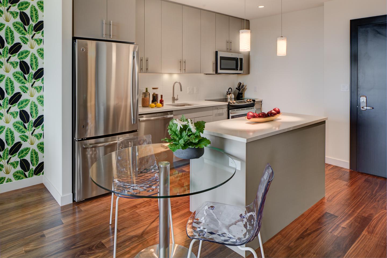 Kitchen at The Benjamin Serviced Apartments