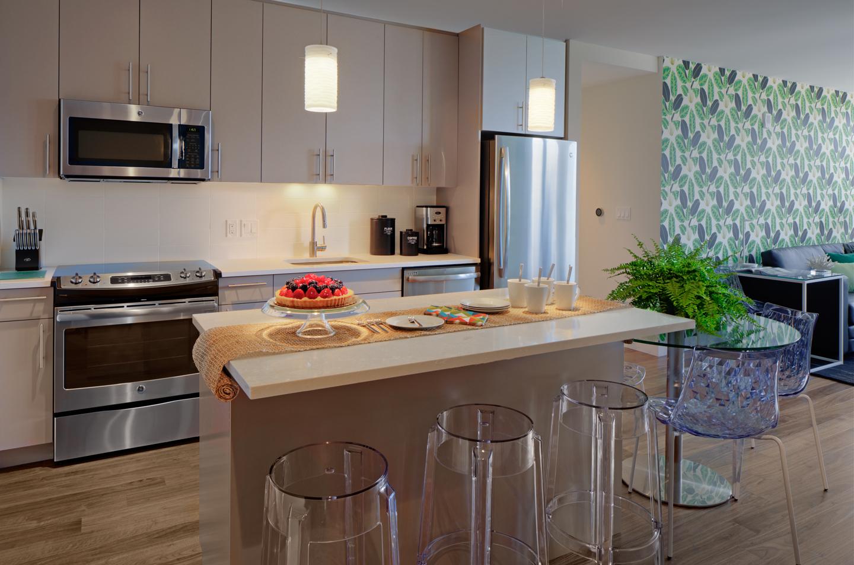 Kitchen facilities at The Benjamin Serviced Apartments