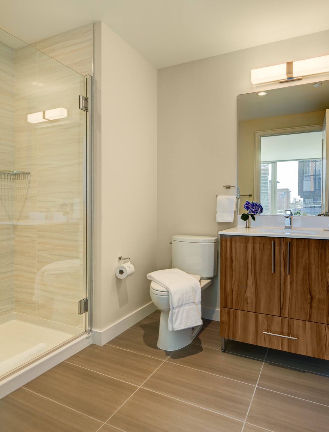 Shower at The Benjamin Serviced Apartments