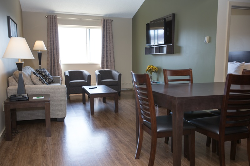 Dining table at Capital Suites Yellowknife
