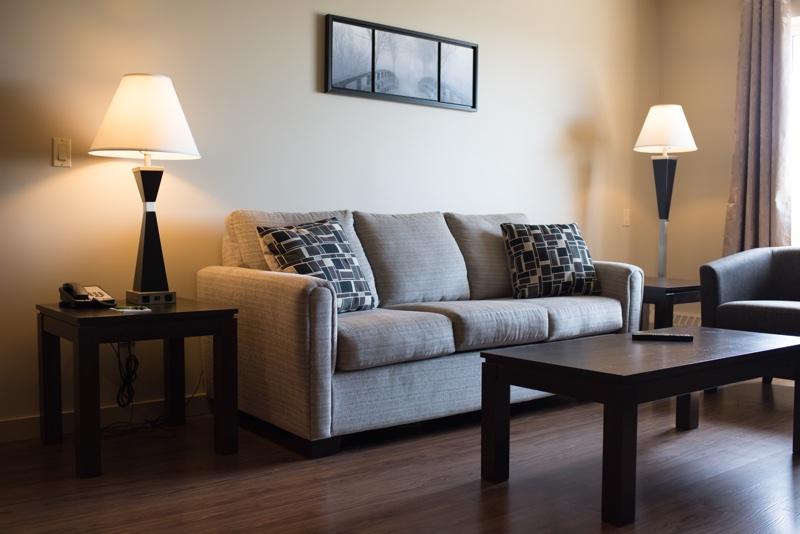 Living room at Capital Suites Yellowknife