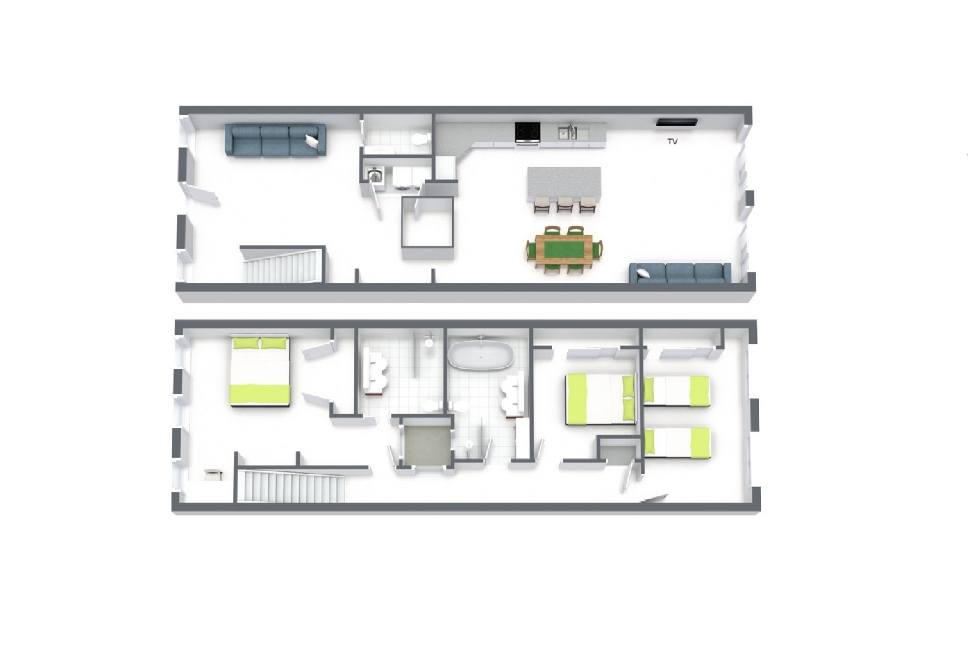 Floor plan at Central Park Apartment