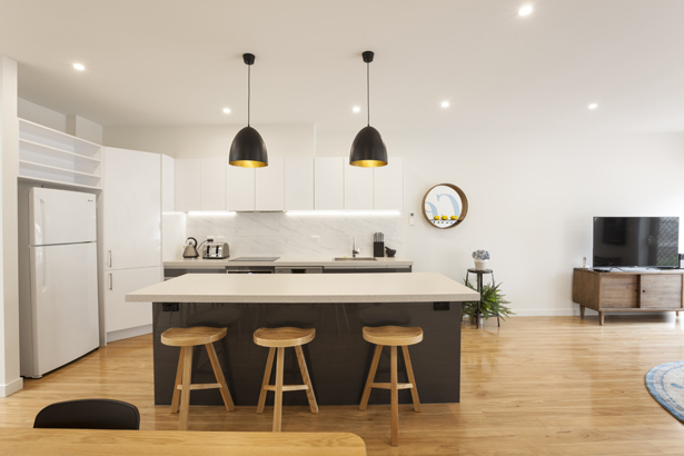 Stylish kitchen at Central Park Apartment
