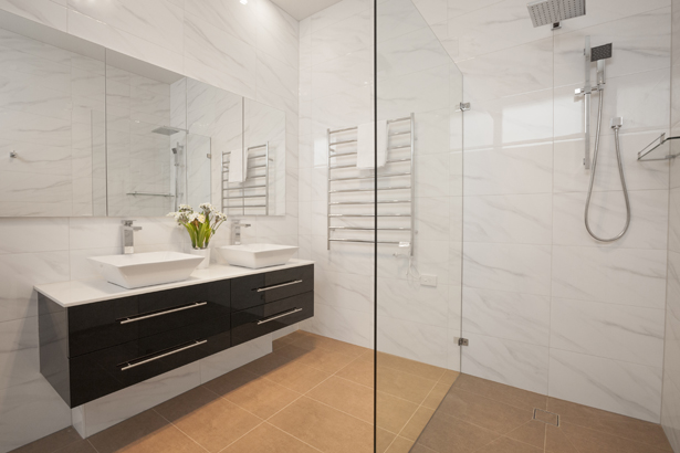 Spacious bathroom at Central Park Apartment